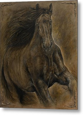 Wildheart....sang To Me Metal Print by Paula Collewijn -  The Art of Horses