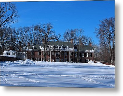 Metal Print featuring the photograph Wildwood Manor House In The Winter by Michiale Schneider