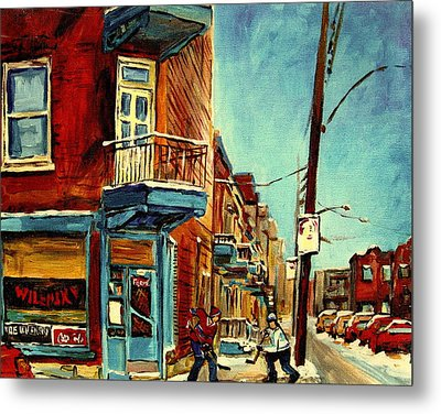 Wilensky's Corner Fairmount And Clark Metal Print by Carole Spandau