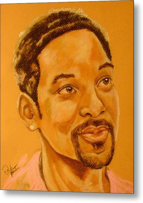 Will Smith Metal Print by Sandra Valentini