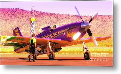 Will Whiteside And P-51 Mustang 'voodoo' Metal Print