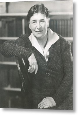 Willa Cather At The Time She Wrote Lucy Metal Print by Everett