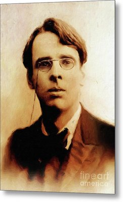 William Butler Yeats, Literary Legend By Mary Bassett Metal Print