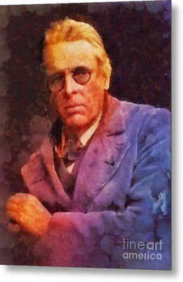 William Butler Yeats, Literary Legend Metal Print