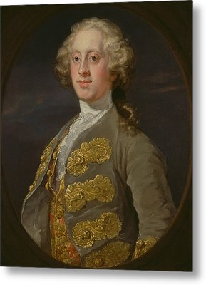 William Cavendish, Marquess Of Hartington, Later 4th Duke Of Devonshire Metal Print by William Hogarth