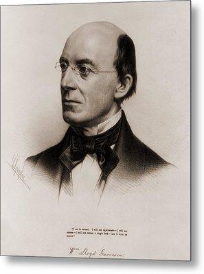 William Lloyd Garrison 1805-1879 Joined Metal Print by Everett