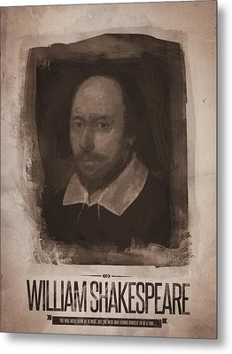William Shakespeare Metal Print by Afterdarkness