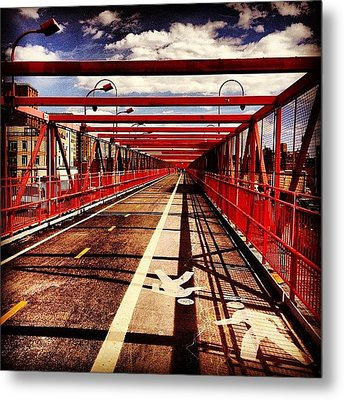 Williamsburg Bridge - New York City Metal Print by Vivienne Gucwa
