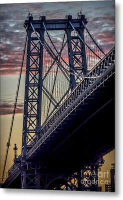 Williamsburg Bridge Structure Metal Print