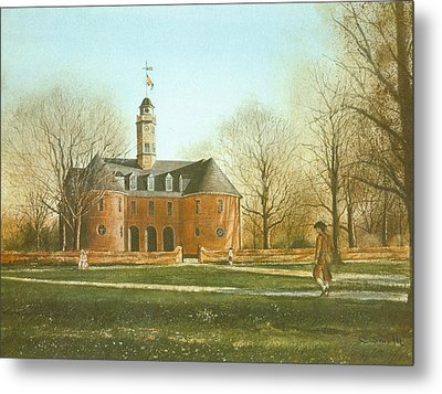 Williamsburg Capital Metal Print by Charles Roy Smith