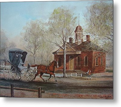 Williamsburg Courthouse Metal Print by Charles Roy Smith