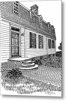 Williamsburg Virginia Restored District Home Metal Print by Dawn Boyer