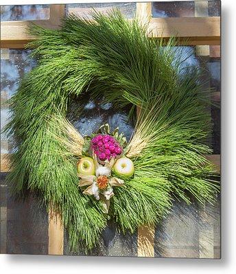 Williamsburg Wreath 49 Metal Print
