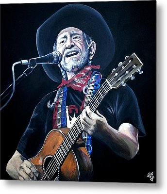 Willie Nelson 2 Metal Print by Tom Carlton