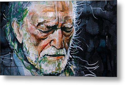 Willie Nelson 7 Metal Print