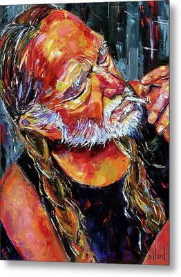 Willie Nelson Booger Red Metal Print