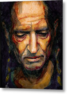 Willie Nelson Portrait 2 Metal Print