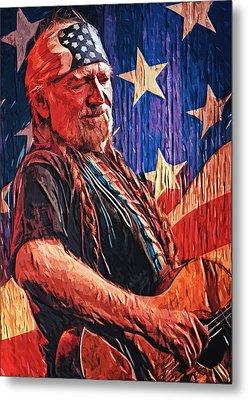 Willie Nelson Metal Print by Taylan Apukovska