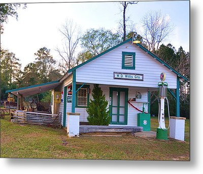 Willis' Grocery Metal Print by Jan Amiss Photography
