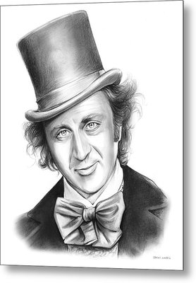 Willy Wonka Metal Print by Greg Joens