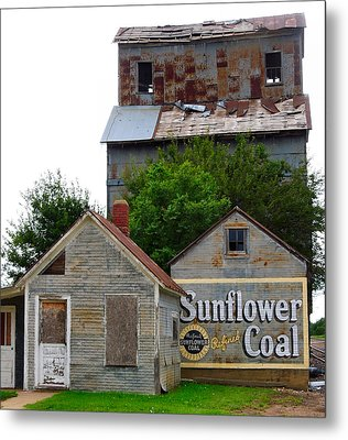 Wilson Kansas Grain Mill #1 Metal Print by Lynne and Don Wright
