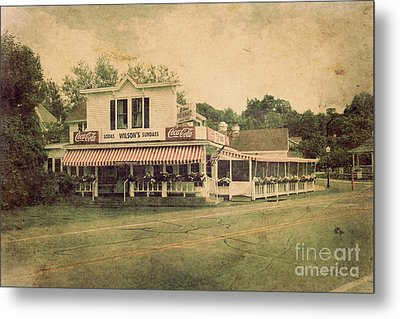 Wilson's Restaurant And Ice Cream Parlor Metal Print by Joel Witmeyer