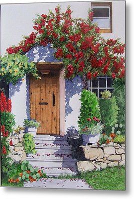 Wiltshire Cottage Metal Print