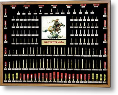Winchester Ammunition Cartridge Board Metal Print by Unknown