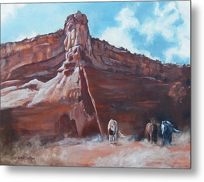 Metal Print featuring the painting Wind Horse Canyon by Karen Kennedy Chatham