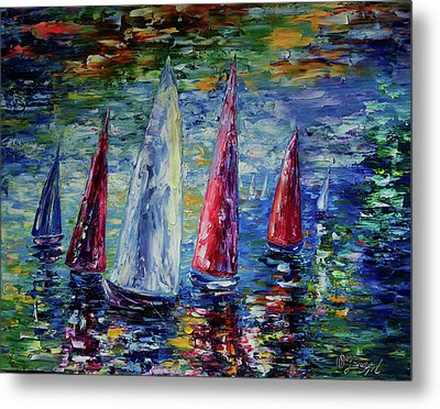 Wind On Sails  Metal Print by Art OLena