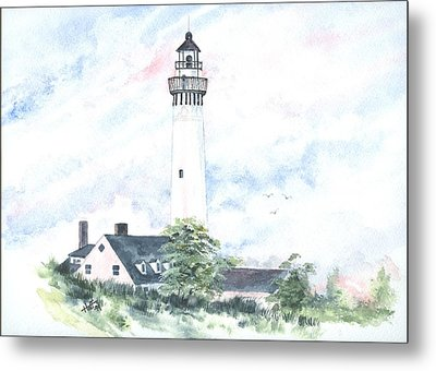 Wind Point Lighthouse Metal Print by Denise   Hoff