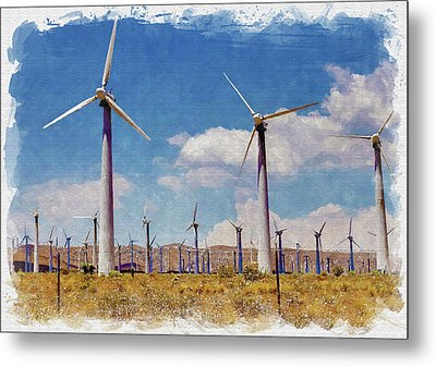 Wind Power Metal Print by Ricky Barnard