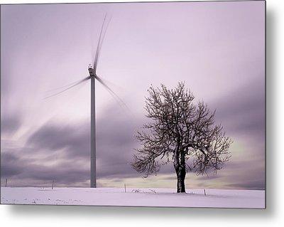 Wind Power Station, Ore Mountains, Czech Republic Metal Print