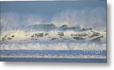 Metal Print featuring the photograph Wind Swept Waves by Nicholas Burningham