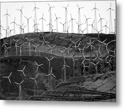 Wind Turbine Farm Metal Print by Jeff Lowe