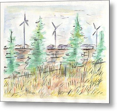 Wind Turbines Metal Print