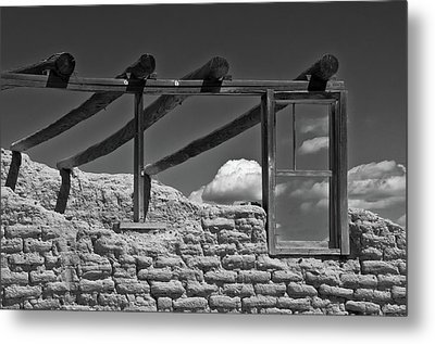 Winddow View Metal Print by Carolyn Dalessandro