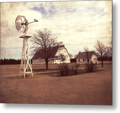 Windmill At Cooper Barn Metal Print by Julie Hamilton