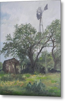 Windmill At Genhaven Metal Print