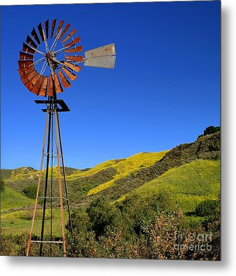 Metal Print featuring the photograph Windmill by Henrik Lehnerer
