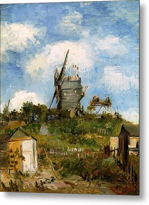 Windmill In Farm Metal Print