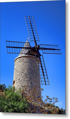 Metal Print featuring the photograph Windmill In Provence by Olivier Le Queinec