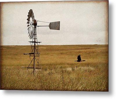 Metal Print featuring the digital art Windmill by Margaret Hormann Bfa
