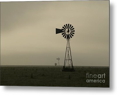 Windmill Perspective Metal Print