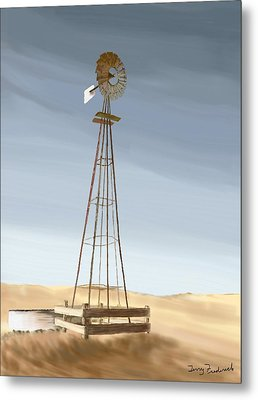 Metal Print featuring the painting Windmill by Terry Frederick