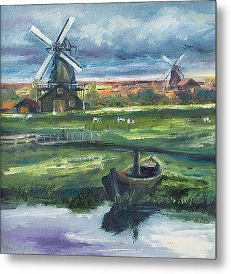 Windmills Metal Print by Rick Nederlof