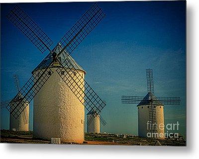 Windmills Under Blue Sky Metal Print by Heiko Koehrer-Wagner
