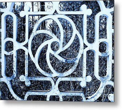 Metal Print featuring the photograph Window #4 Myknonos Blue Angeloffj by Joy Angeloff