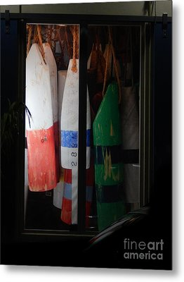 Window Buoys Key West Metal Print