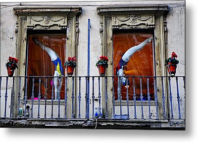 Window Dressing 2 In Florence Italy Metal Print